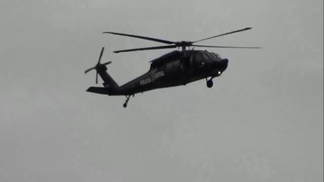 Helicópteros sobrevuelan el Centro de la Ciudad de México