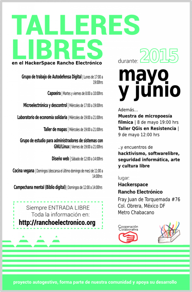 Talleres Mayo Junio 2015