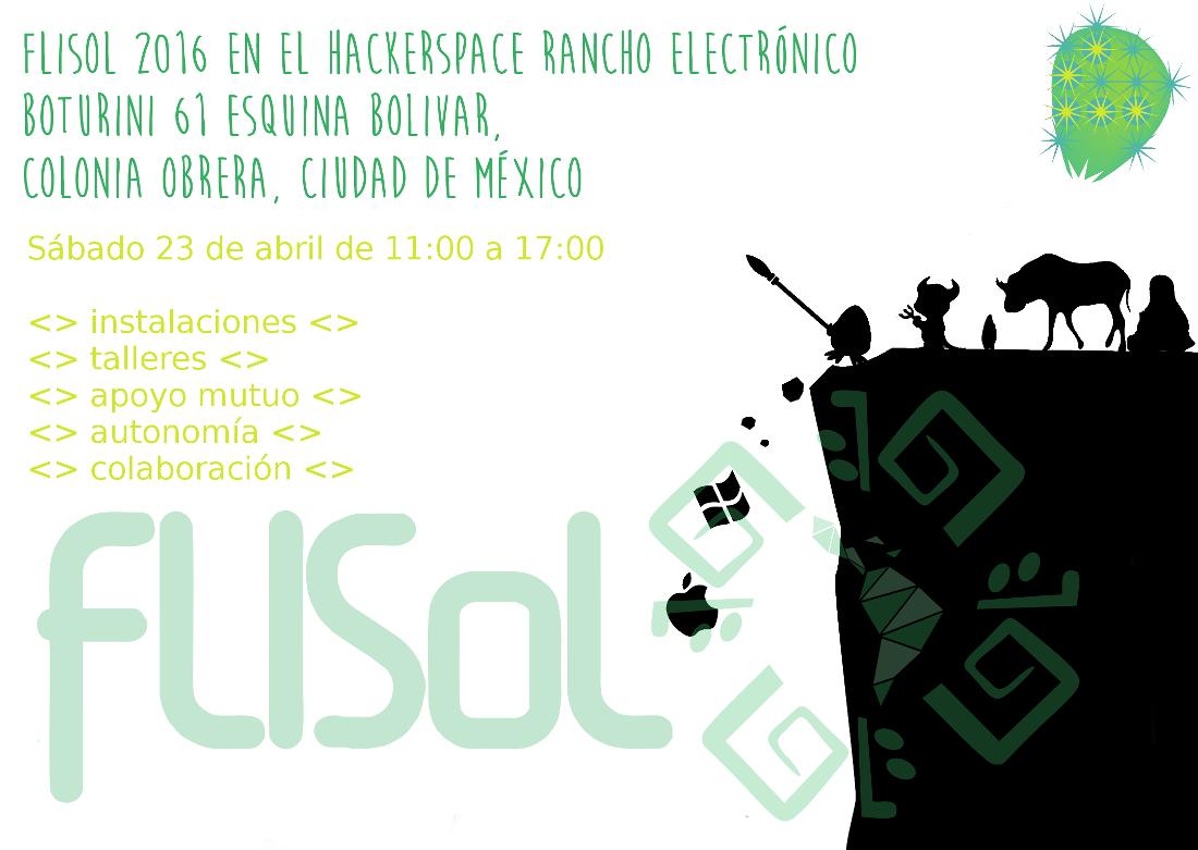 Cartel FLISoL 2016 Rancho Electrónico