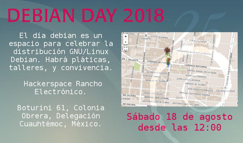 Invitarción Debian Day 2018
